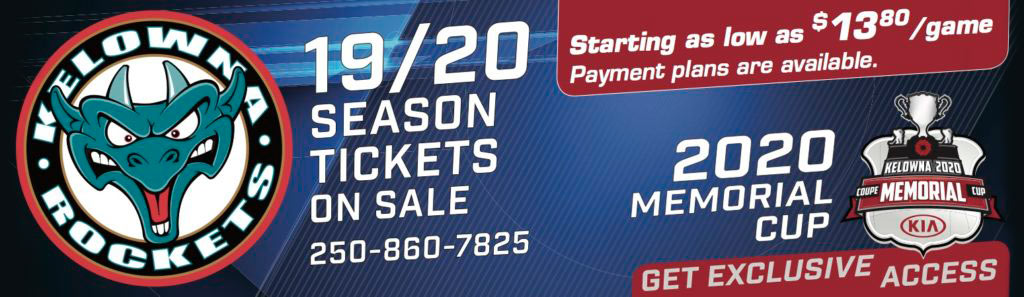 Kelowna Rockets 19/20 Season Tickets