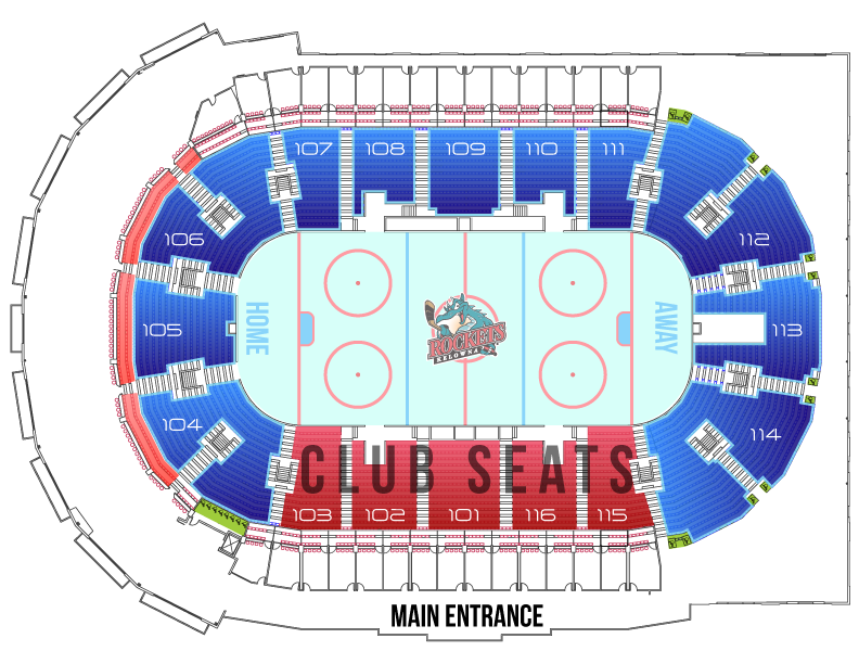 Kelowna Rockets Seating Map