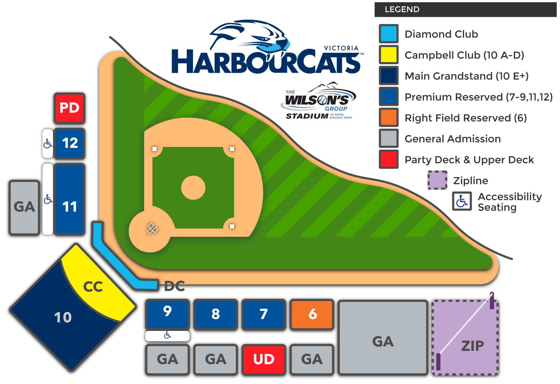 Victoria HarbourCats Seating Map
